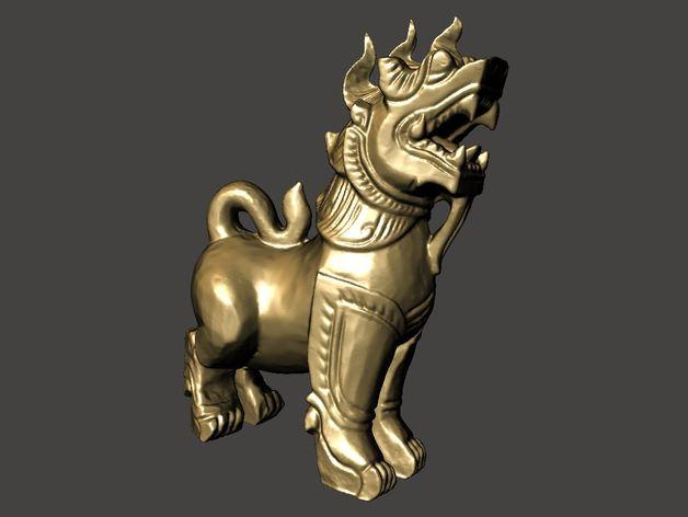 石狮子 模型