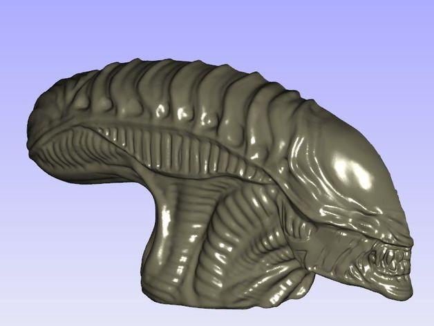 外星人的头 模型 3D打印模型渲染图