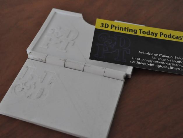 名片轧花板 3D打印模型渲染图