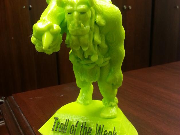 巨魔雕塑 3D打印模型渲染图