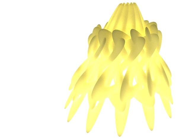 几何灯罩 3D打印模型渲染图