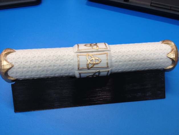 卷轴套 卷轴盒  3D打印模型渲染图
