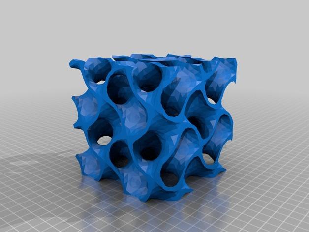 螺旋二十四面体 3D打印模型渲染图