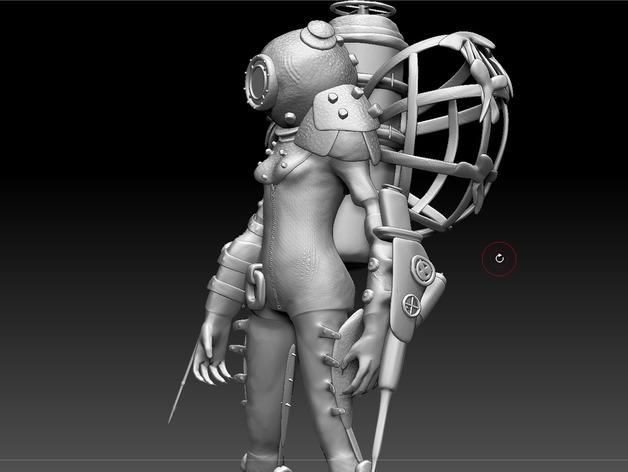 生化奇兵 女战士模型