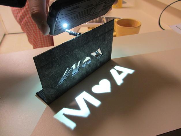 投影板 3D打印模型渲染图