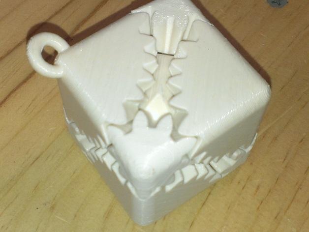 齿轮方块挂件