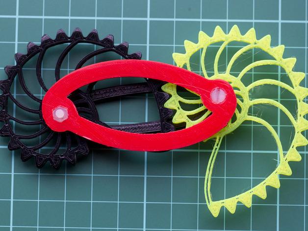 鹦鹉螺齿轮(带连杆)