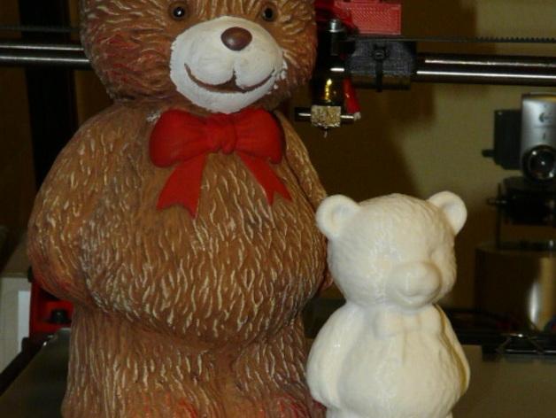 小熊存钱罐 3D打印模型渲染图