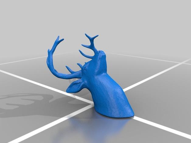 鹿头模型 3D打印模型渲染图