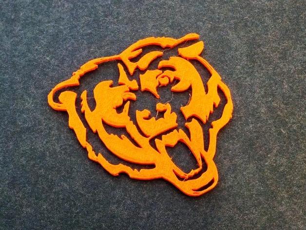 芝加哥熊队标志 3D打印模型渲染图