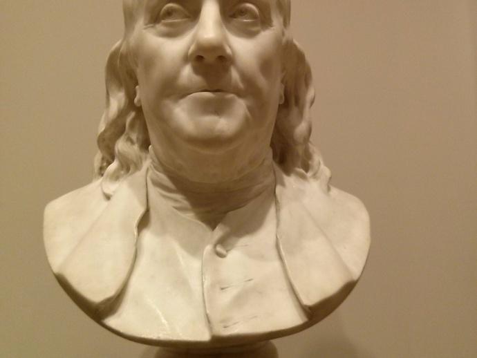 本杰明富兰克林半身像 3D打印模型渲染图