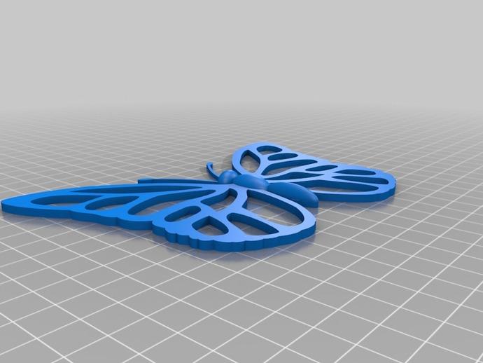 蝴蝶装饰 墙贴 3D打印模型渲染图
