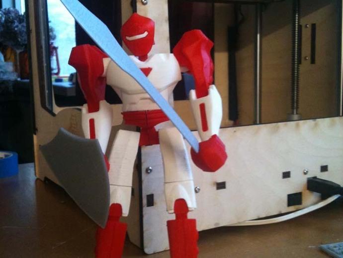 机器人兵器 3D打印模型渲染图