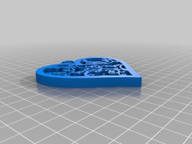 心形小礼物 3D打印模型渲染图