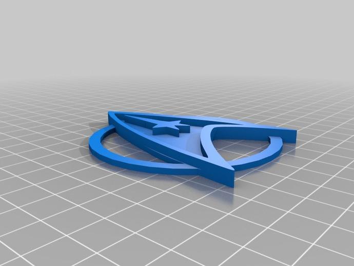 星际迷航指挥器 3D打印模型渲染图