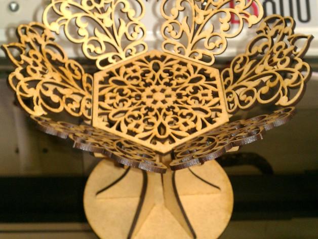 雕花托盘 3D打印模型渲染图