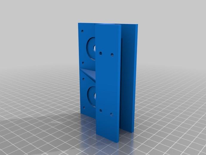 步进机支架 3D打印模型渲染图