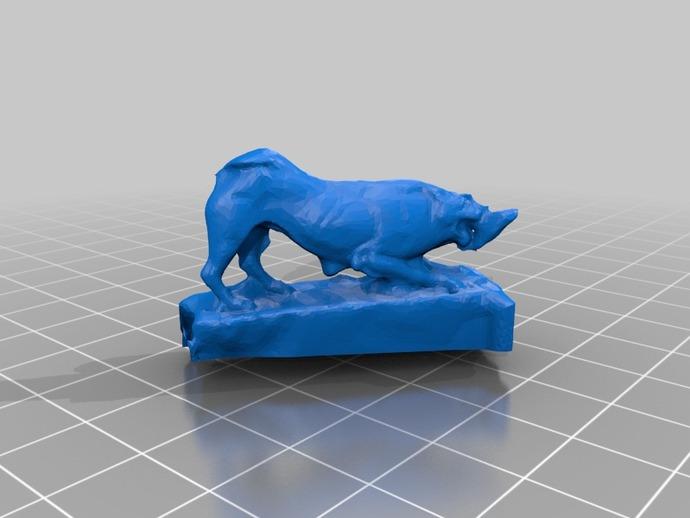 狮子大理石雕像模型