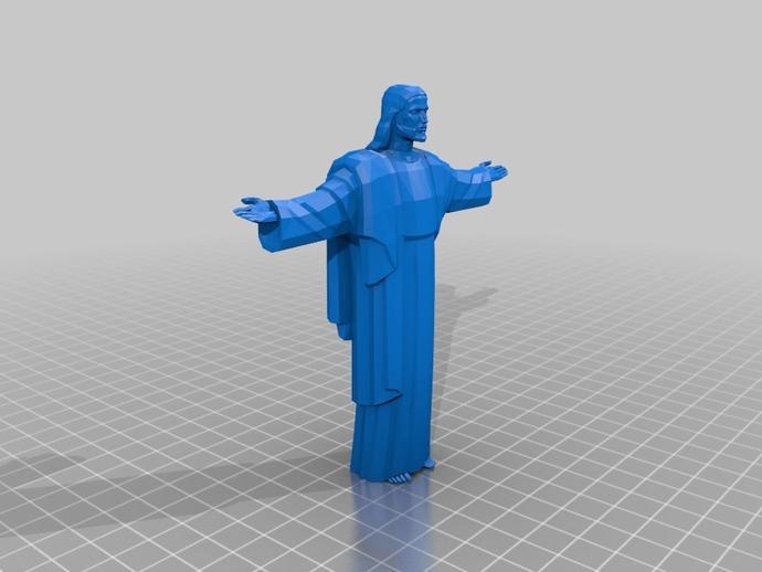 耶稣雕像 3D打印模型渲染图
