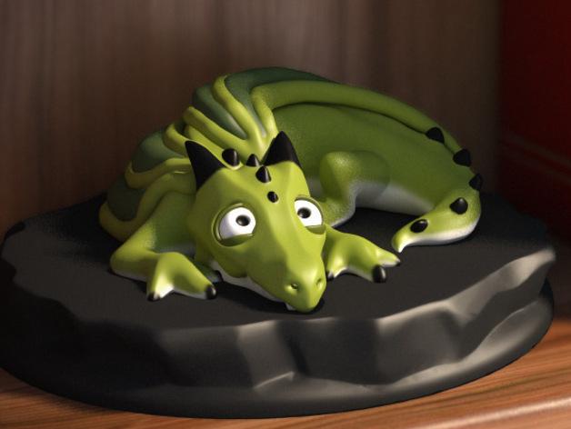 口袋妖怪 小火龙模型 3D打印模型渲染图