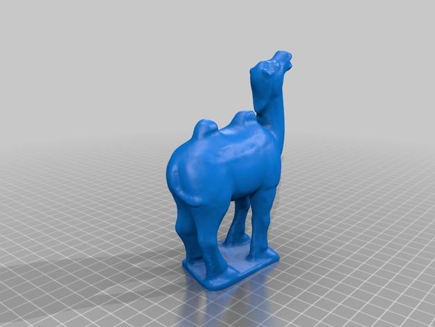 骆驼模型 3D打印模型渲染图