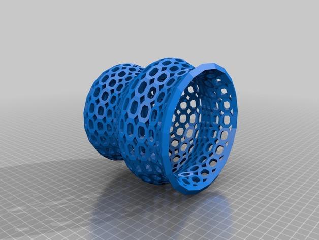 Funky 花瓶 3D打印模型渲染图
