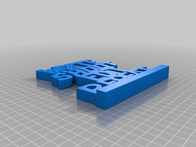WriteShootEditRepeat 字母模板 3D打印模型渲染图