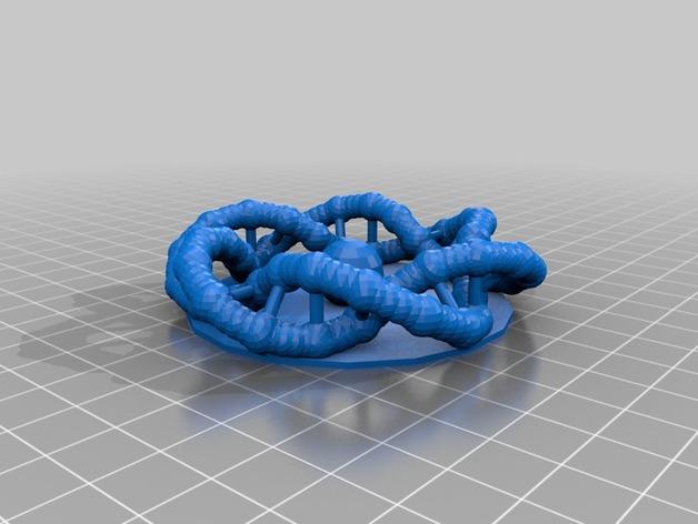 DNA 环 3D打印模型渲染图