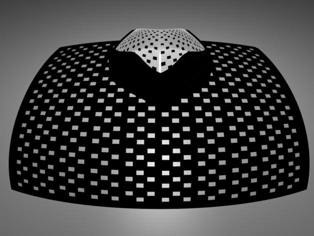 蘑菇型立体投影 3D打印模型渲染图