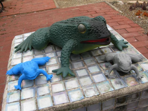 花园蛙 3D打印模型渲染图