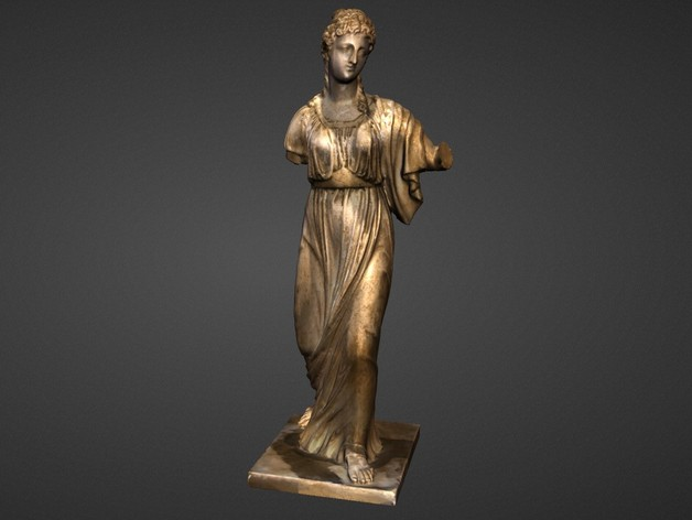 阿格里皮娜雕塑 3D打印模型渲染图