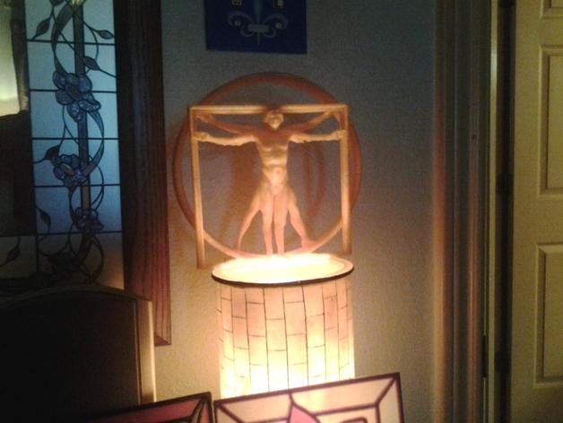 维特鲁威人 3D打印模型渲染图