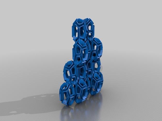 空心水晶 3D打印模型渲染图