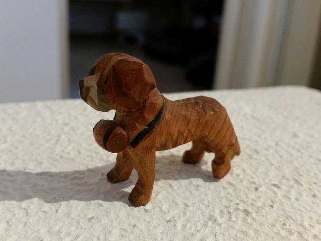 圣伯纳德犬 3D打印模型渲染图