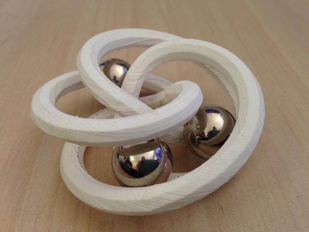 螺旋形花托  笔架 3D打印模型渲染图