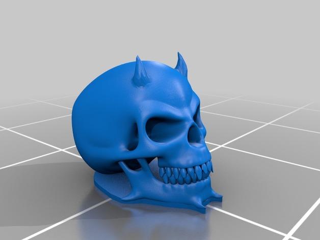 魔鬼头骨模型