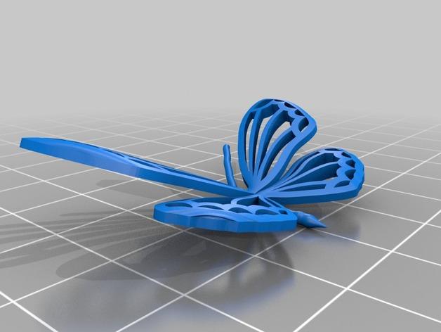 3D蝴蝶 3D打印模型渲染图