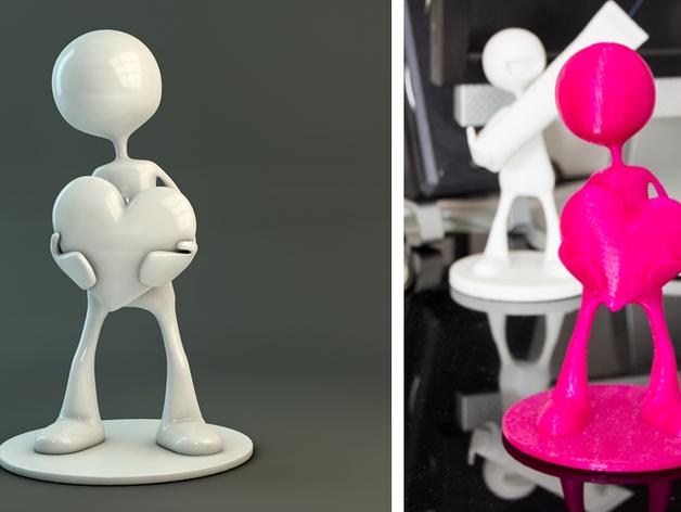 恋爱中的Sub先生 模型 3D打印模型渲染图
