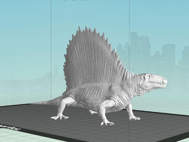 异齿龙模型 3D打印模型渲染图