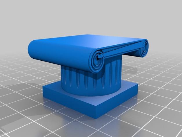 希腊柱 3D打印模型渲染图