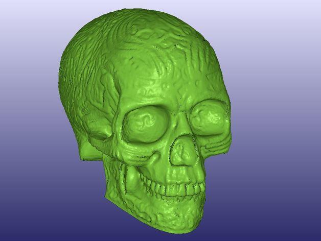凯尔特中空骷髅 3D打印模型渲染图