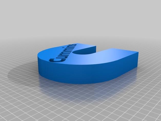 康明斯LOGO  3D打印模型渲染图