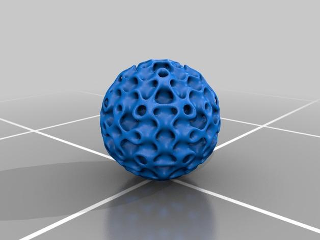 正弦曲线球