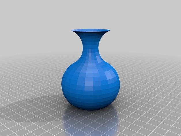 简易花瓶 3D打印模型渲染图