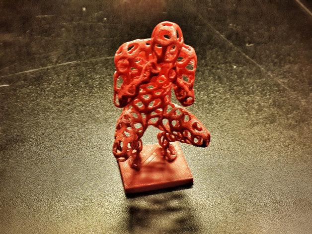 泰森多边形 人 模型 3D打印模型渲染图