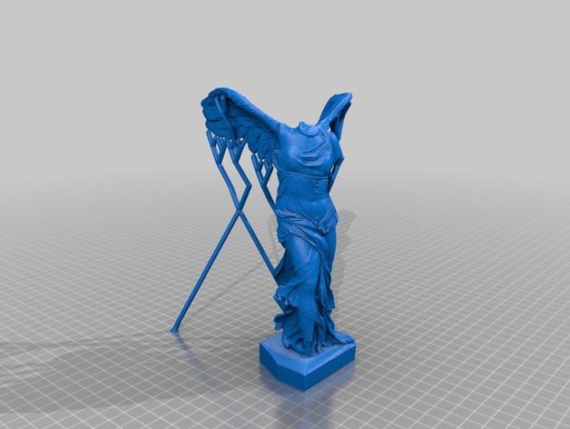 胜利女神雕像模型 3D打印模型渲染图