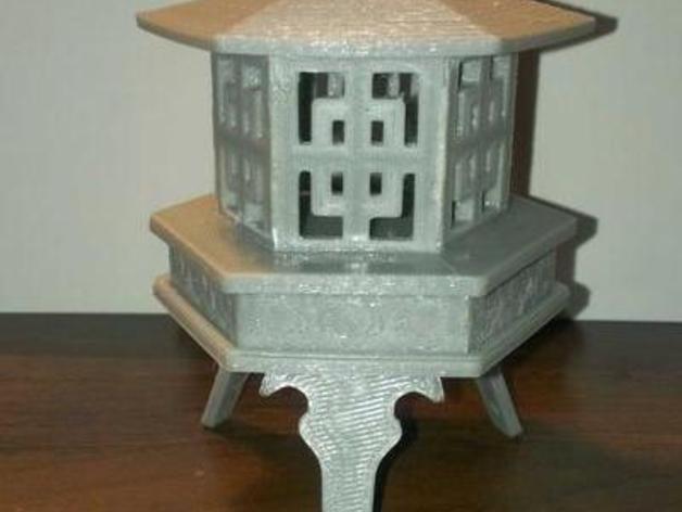 Ishidoro灯 3D打印模型渲染图