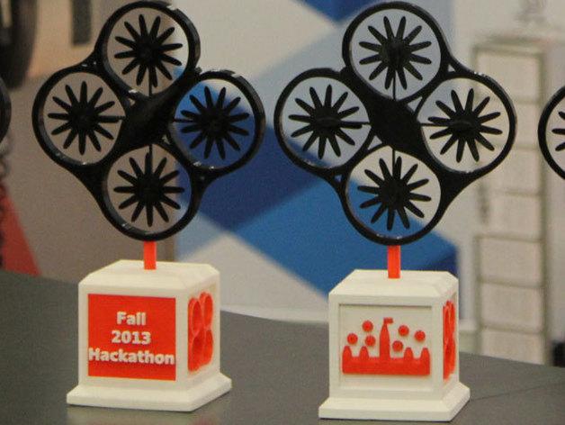 渥太华黑客马拉松纪念品 3D打印模型渲染图