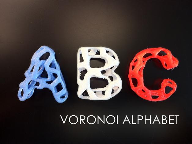 字母表 字母模型 3D打印模型渲染图
