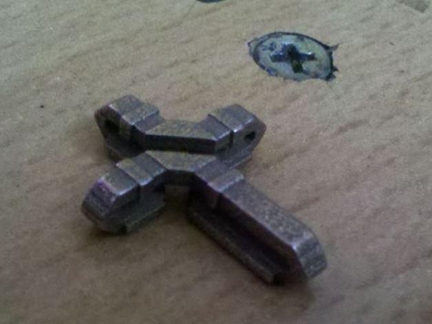 扁平交错十字架